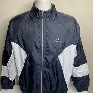 Vintage kappa full zip windbreaker jacket large